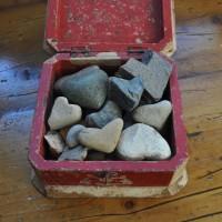 box of heart rocks 1